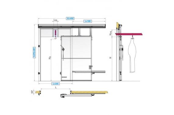Откатные двери для подвесных путей INCOLD