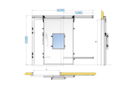 Двери с контролируемой атмосферой INCOLD