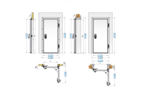 Навесные одностворчатые двери INCOLD