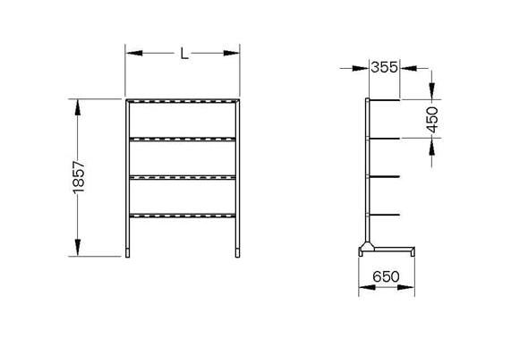 Стеллаж для сушки коротких сапог UNI-TECH