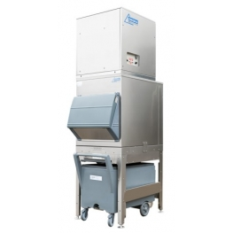 750kg flake ice machine with 200kg elevated bin and cart Ziegra