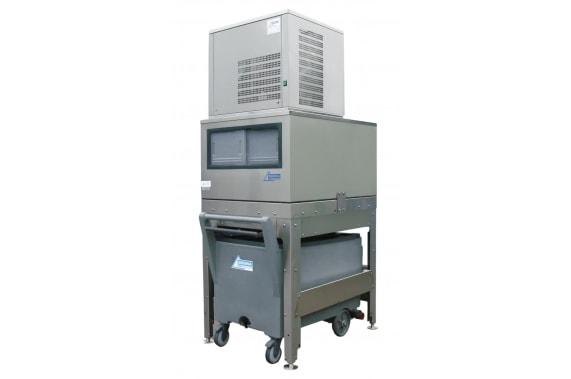 125 кг в сутки генератор гранулированного льда с верхним накопителем 150 и тележкой Ziegra