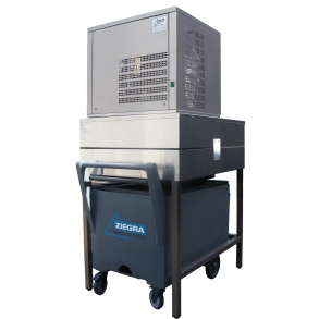 300 кг в сутки генератор кускового льда с каркасом и тележкой Ziegra