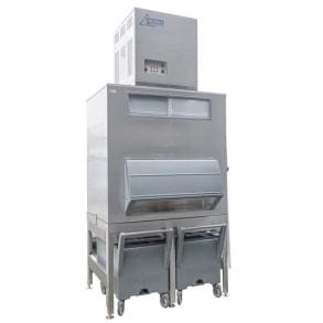 1000 кг в сутки генератор кускового льда с накопителем 630 кг и тележками Ziegra