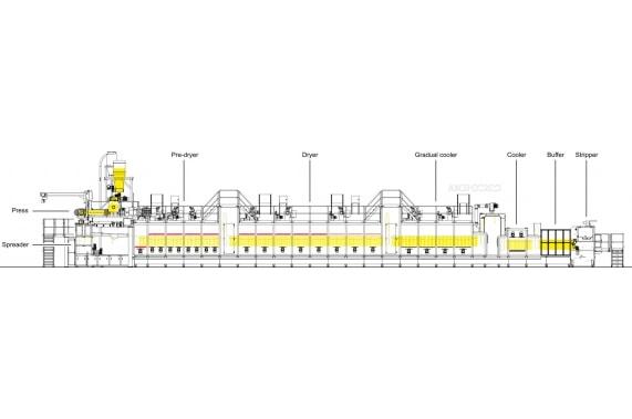 Одноярусная линия длиннорезанны макаронных изделий до 1500 кг/час AXOR OCRIM