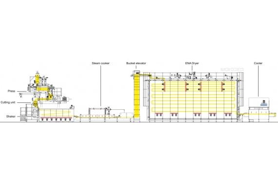 Линия классических макаронных изделий бысторого приготовления  1000 кг/час AXOR OCRIM