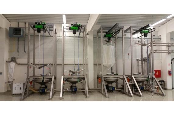 Разгрузочная система муки из больших резервуаров от CEPI