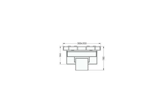 Квадратный сифон для сточных вод 532 UNI-TECH