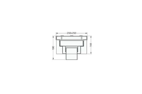 Квадратный сифон для сточных вод 538 UNI-TECH