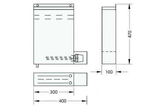 Емкость дизинфекции 1 кейса с ножами 560 UNI-TECH