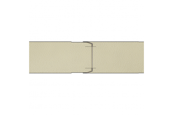 Сендвич панели c возможностью наращивания путем пазогребневого соединения линейного исполнения GS112-BS2 INCOLD