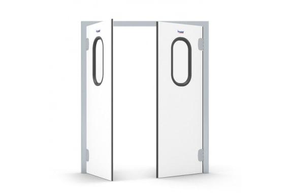 Маятниковые двери без аллюминиевого обрамления INCOLD