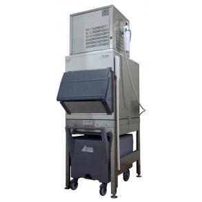 300 кг в сутки генератор кускового льда с накопителем 200 кг и тележкой Ziegra