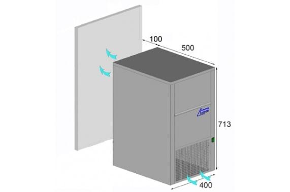 30 кг в сутки лабораторный льдогенератор с 10 кг накопителем льда Ziegra