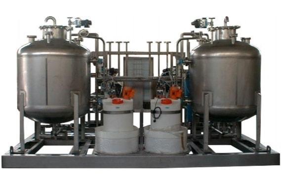 Двухемкостные CIP станции с паровым нагревом UNI-TECH